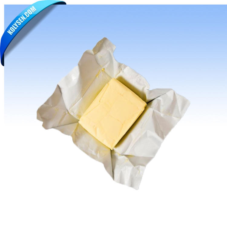 Printed AL foil paper for butter wrapping