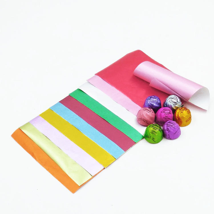 Custom Print Candy Chocolate Wrapping Aluminum Foil Paper