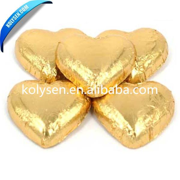 Individual Aluminum Foil Wrapped Chocolate Hearts