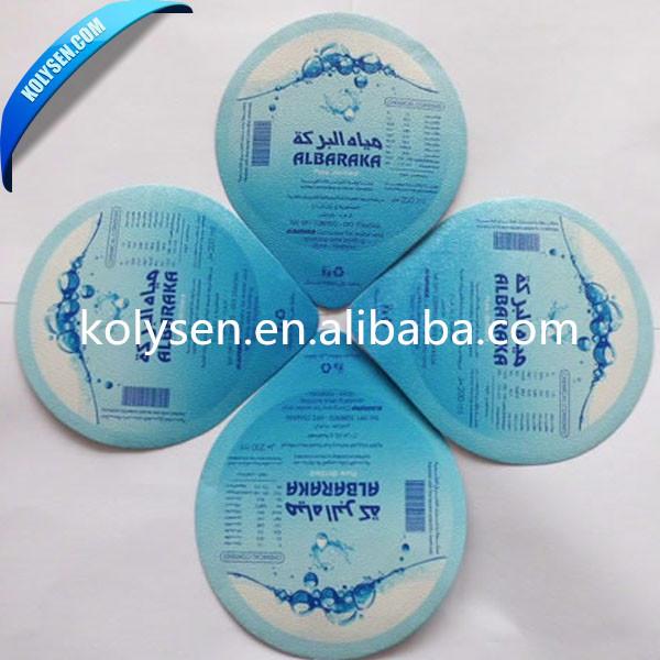 Packaging and printed aluminum foil lids for water/milk/yogurt cup