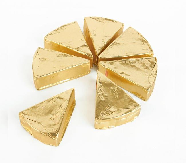 Soft Cheese Packaging Aluminum Foil Gold Chocolate Aluminium Foil