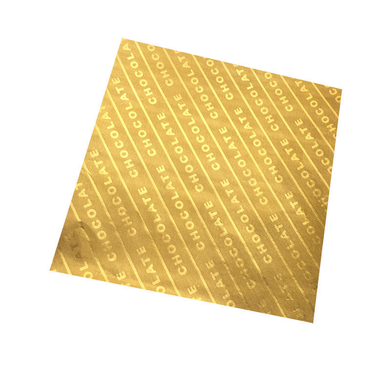 Embossed Food Grade Gold Aluminum Foil for Chocolate Candy Packing