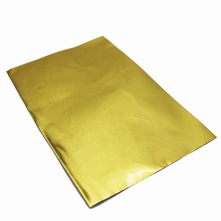 No odor golden chocolate laminated aluminum foil paper