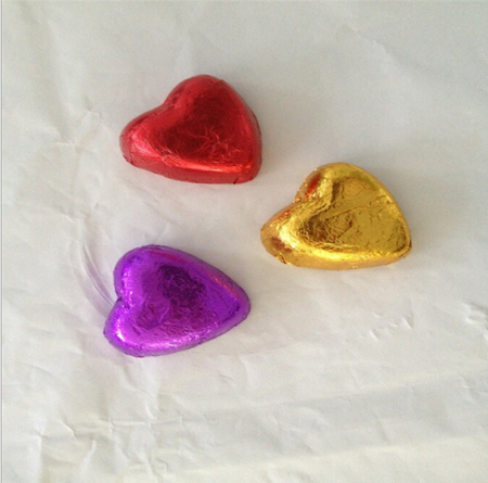 10 mic multi-color sheet chocolate aluminum foil for easter egg