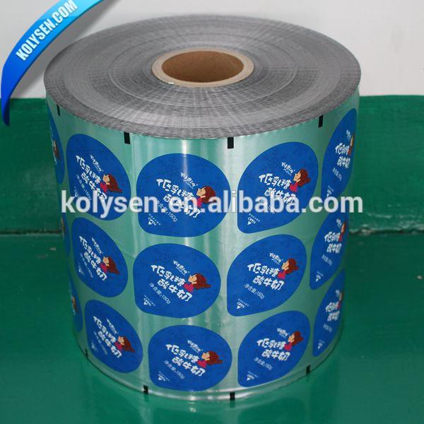 Yogurt Cup Aluminium Foil Rolls Packaging Lids for PP Cups