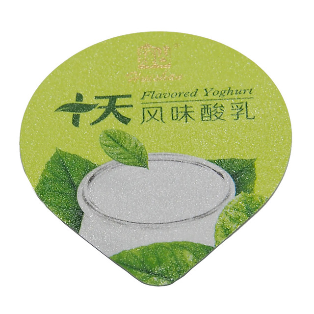 High quality aluminum foil lids/cover foil for yogurt packing