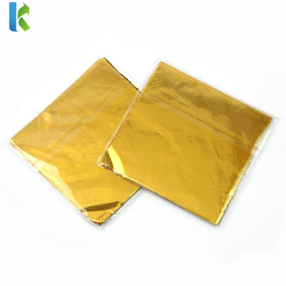 Custom Printed Colors Embossed Foil Wrappers for Chocolate Bar Foil Wrappers