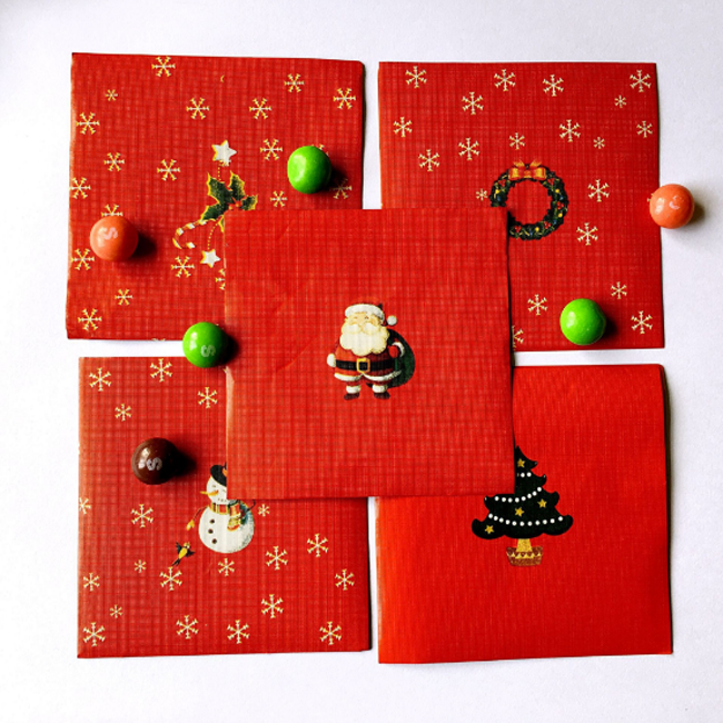 Christmas printed and embossing aluminum foil chocolate wrapping paper