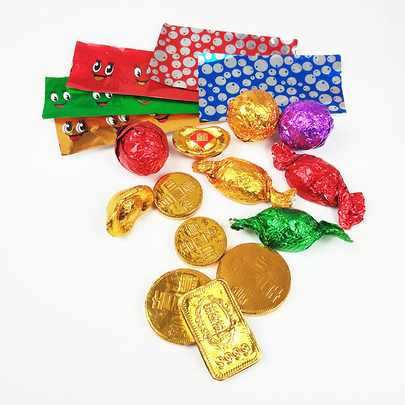 Kolysen Aluminum paper embossed foil for chocolate wrapping