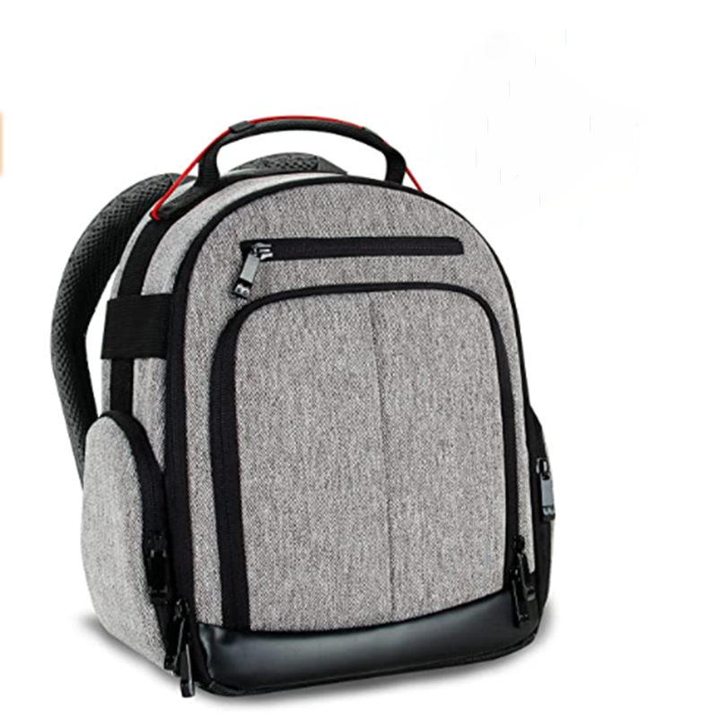 mochilas Portable Camera Backpack for DSLR (Gray) with Customizable Accessory Dividers, Weather Resistant Bottom and Comfortable Back