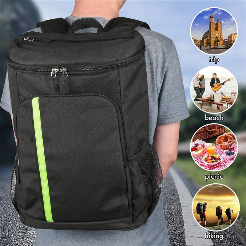 mochilas Portable 4 Persons Picnic Backpack Outdoor Camping BBQ Lunch Bag Backpacking Picnic Bags with Tableware Cup Set Hiking Rucksack