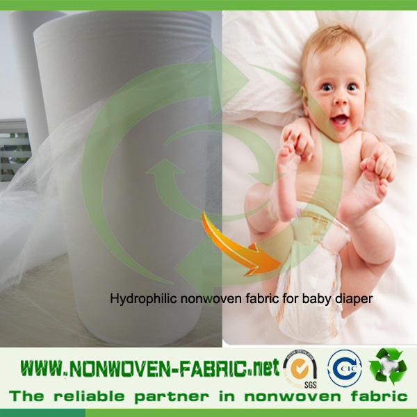 polypropylene nonwoven fabric for Baby Diapers, Adult Incontinence, and Feminine Hygiene etc