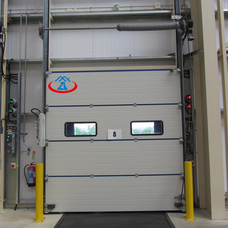 W2500*H3000mm high quality industrial aluminum warehouse garage automatic lifting door