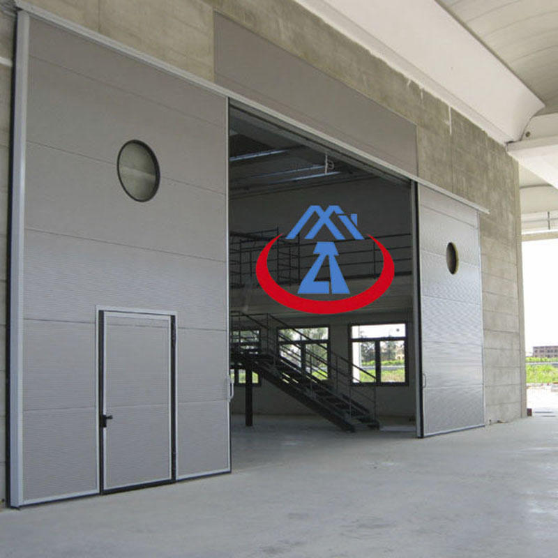 PPGI+PU material 40mm door panel industrial doors steel sliding door