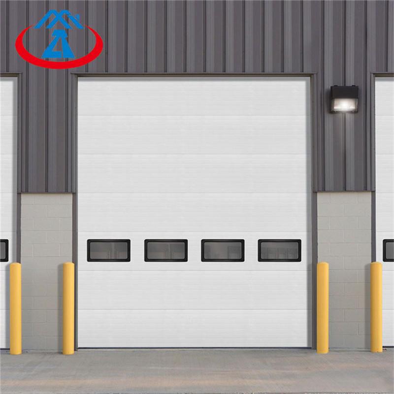 2500mm*3200mm White lift up door electric industrial sectional overhead door