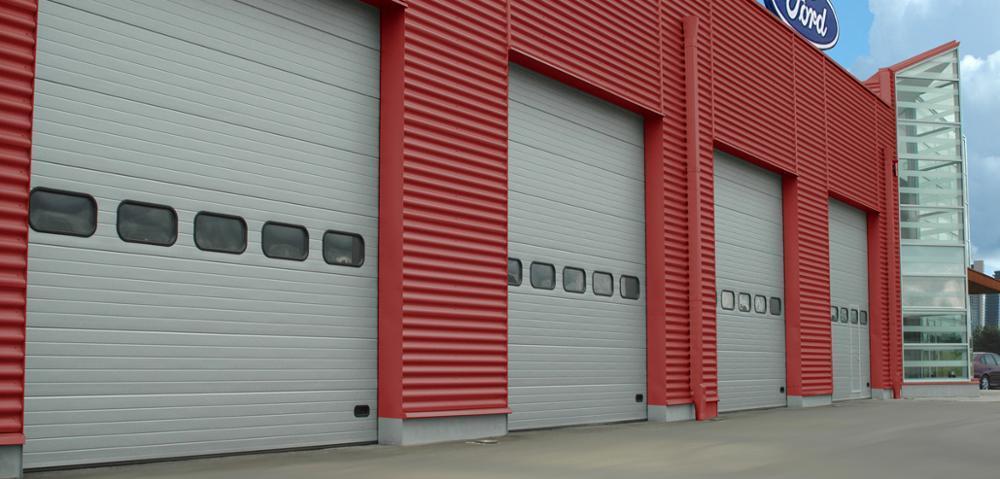 Wholesale Color Steel Overhead Garage Door Industrial Lifting Doorfor Warehouse or Factory