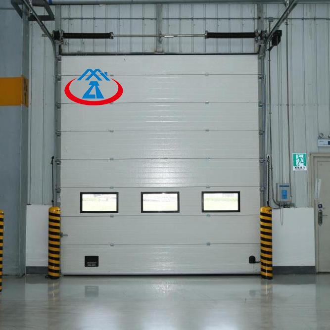 W2500*H3000mm Vertical Galvanized Steel Overhead Industrial Lifting Door
