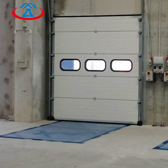 W2500*H3000mm Long Service Life High Quality Vertical Lift Sectional Industry Door