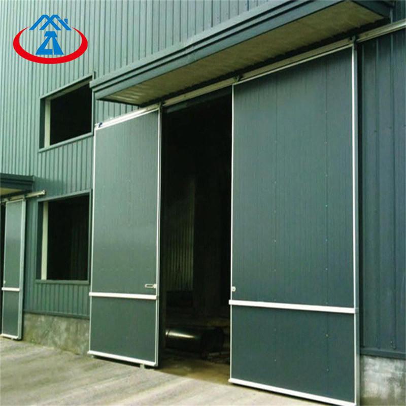 Manual industrial sliding door 129inch*125inch 40/50mm door panel ready to ship