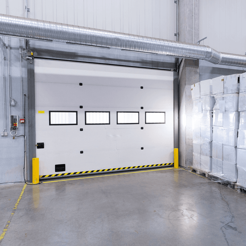 W2500*H3000mm Electric lifting industrial overhead sectional door for factory