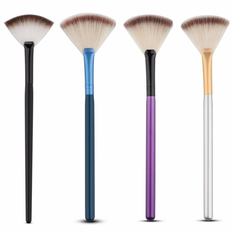 Professional Fan Makeup Brushes Face Highlighting Make Up Cosmetic Brush