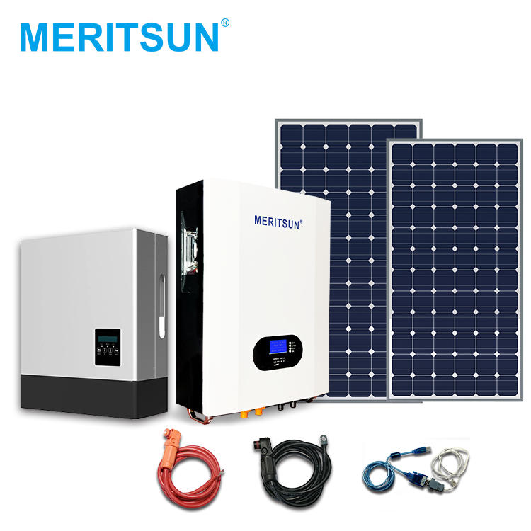 High Quality 5Kw 7Kw 10Kw Power Storage LiFePO4 Battery Hybrid Inverter Solar Energy Systems For Home