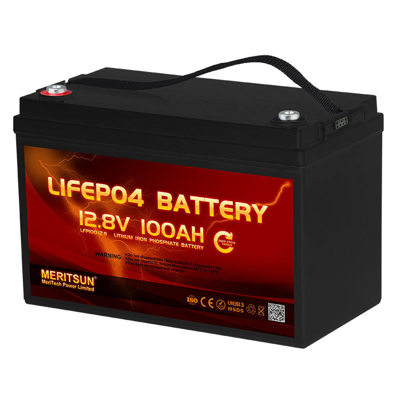 Factory Supply Rechargeable LiFePO4 12V 100Ah Lithium ion iron Phosphate Battery
