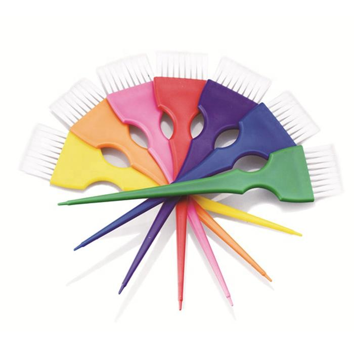 Professional wholesale hair dye comb colorful hair tint brush for salon