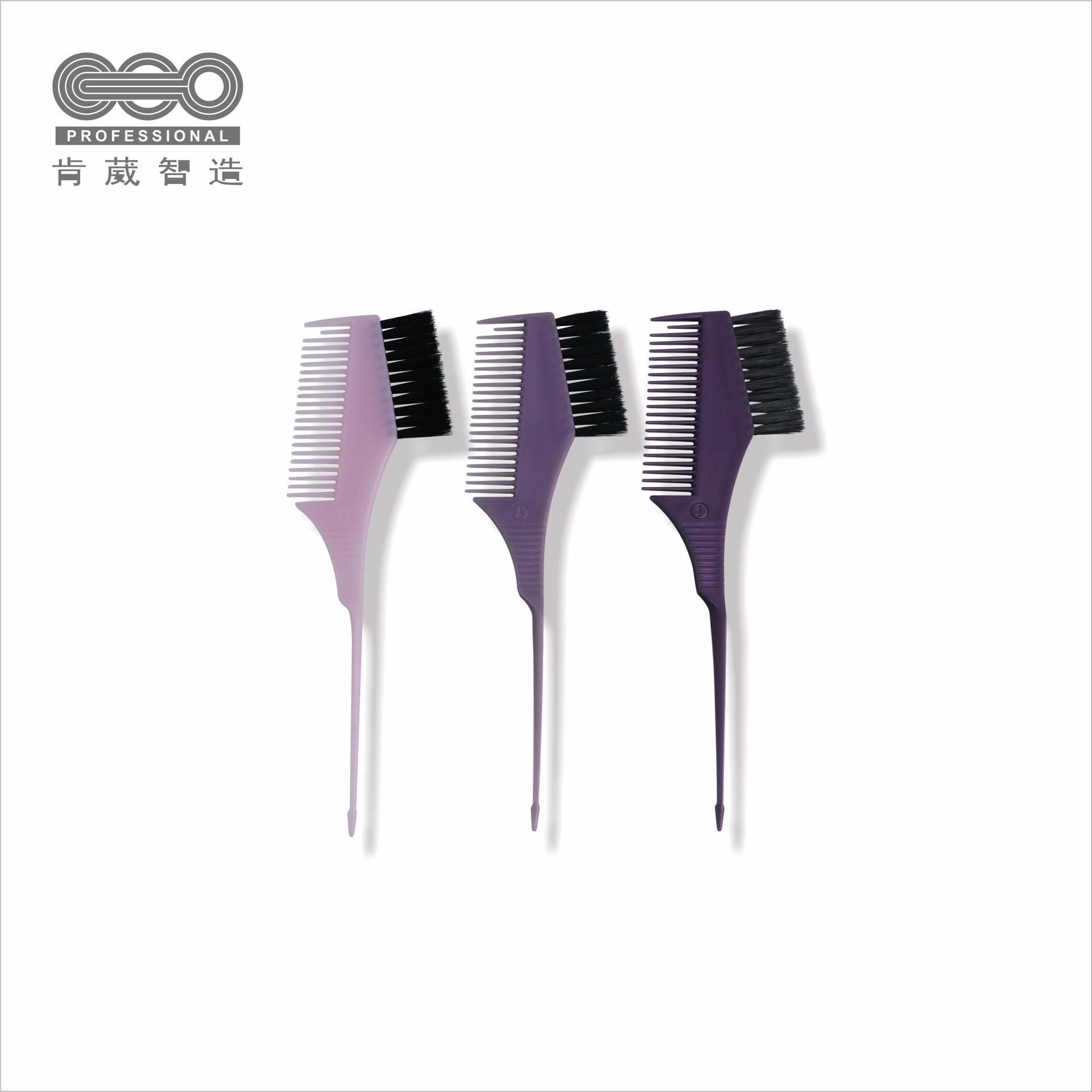 wholesale hair salon kit top quality soft plastic hair dye tail brush double-sided comb