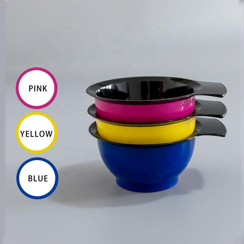 Colorful Salon Hairstyling Barber Bleach DIY Application Highlight Mixing Coloring Plastic Tinting Bowl