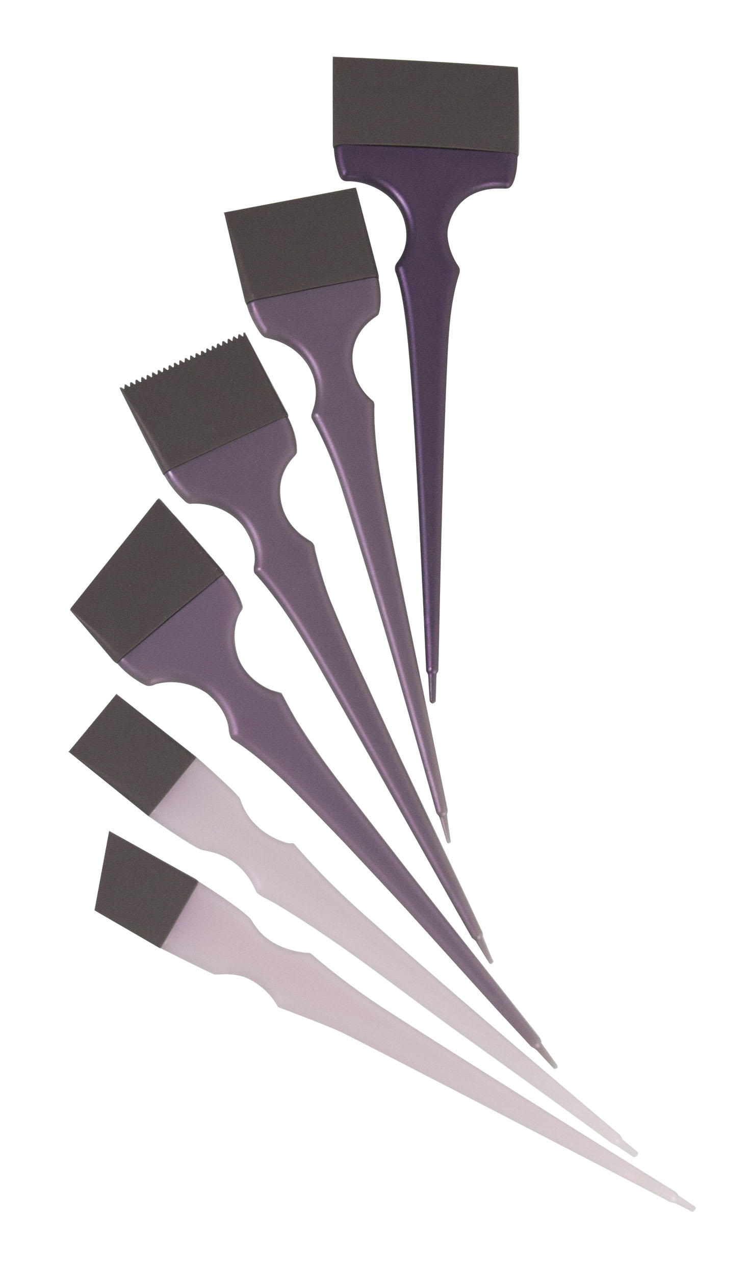 Silicone Hair Dye Colouring Brush Hair Tint Brush Hair Hairstyling Accessory Comb 6Pcs Per Set