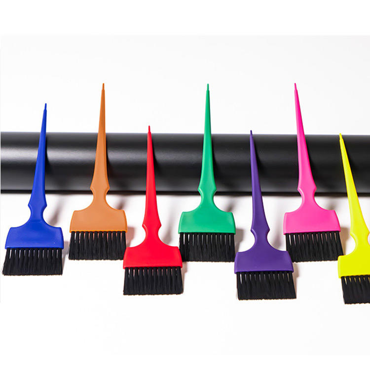 Hot sale Professional Hair Salon tools RAINBOW dye tinting brushes toolstint hair color brush