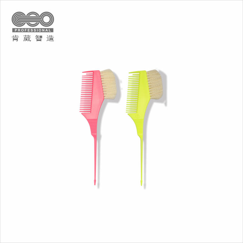 OEM Wholesale Soft Plastic Dye Comb Tint Hair Brush For Salon