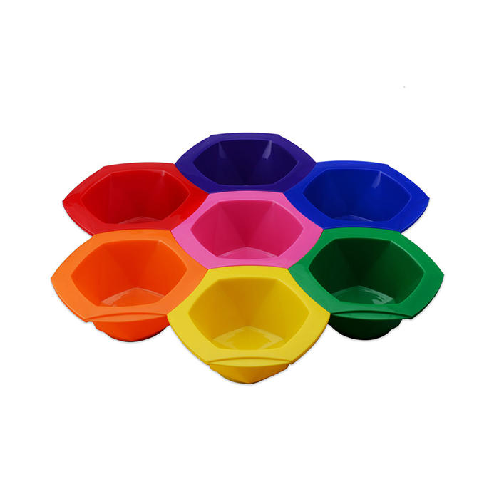 7pcs/set Colorful Hair Dying Brushes Plastic Stirring Bowl Pro Salon Barber Hairdressing Set