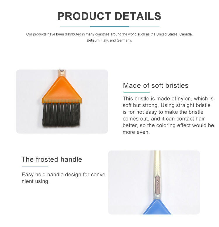 Factory direct customized color hair brush high quality for hair tint coloring use salon dye brush nylon filament
