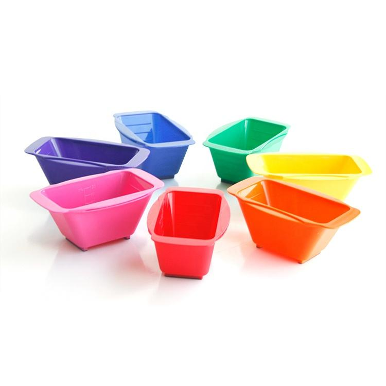 Hair salon tinting coloring dyeing professional color mixing tint bowl