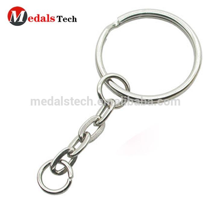 Hot sale high quality blank metal multi ring keychain for key accessories
