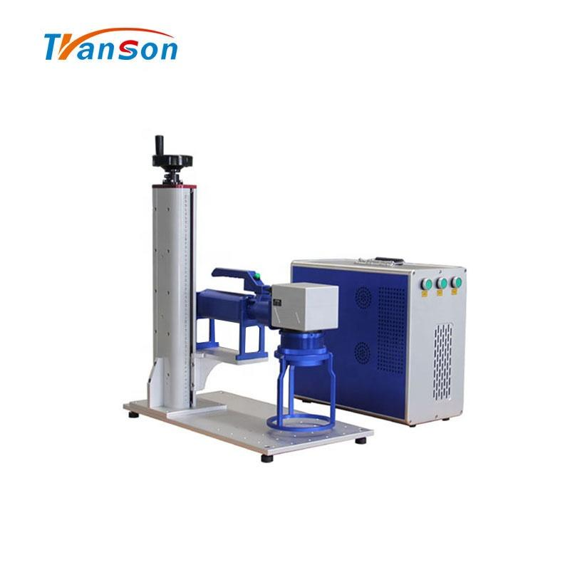 Hot sale 50W CNC Mini handle Fiber Laser Marking Machine mark on big machine wall