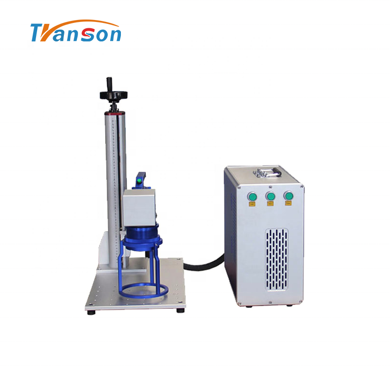 Handheld110*110mm mini 100W High Power Fiber Laser Marking Machine for Metal