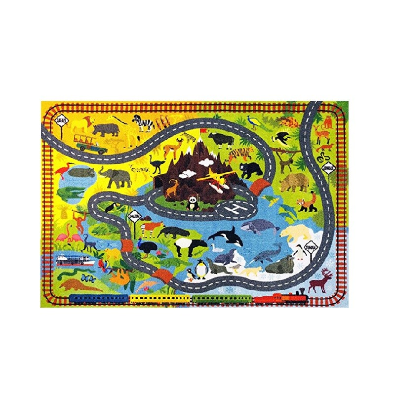Latest chinese product natural rubber fabric surface baby folding play mat