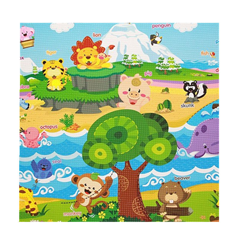 Custom rubber thick soft baby play gym mat with foldable