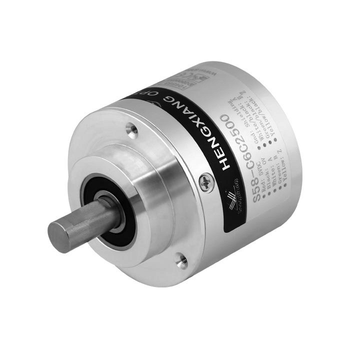 S58 shaft 10mm cable length 1000mm RVI58N-011K1R61N-01024 A+B+Z+A-B-Z- 1024ppr push-pull10-30VDC radial rotary encoder