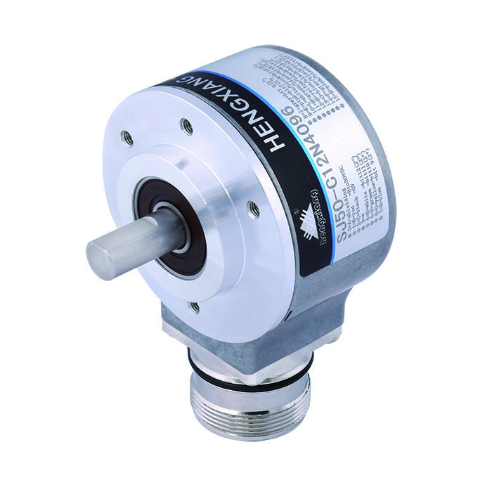 10mm solid shaftstainless steel single turn solid shaft absolute rotary encoder SJ50 PNP Output Gray Code 5bit