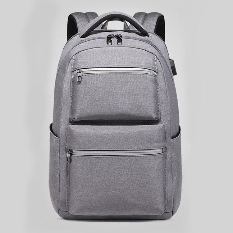 mochilas New quality cheap gray oxford fabric man backpacks sports travel school student fashion laptop boys shoulder backpack bags