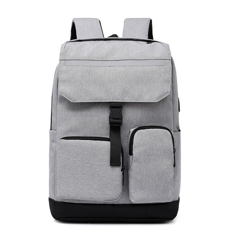 mochilas Large Men Backpacks School Bag for Boys Teen Oxford Gray Back Pack USB Multifunctional Back bag Teenage Student College Backpack