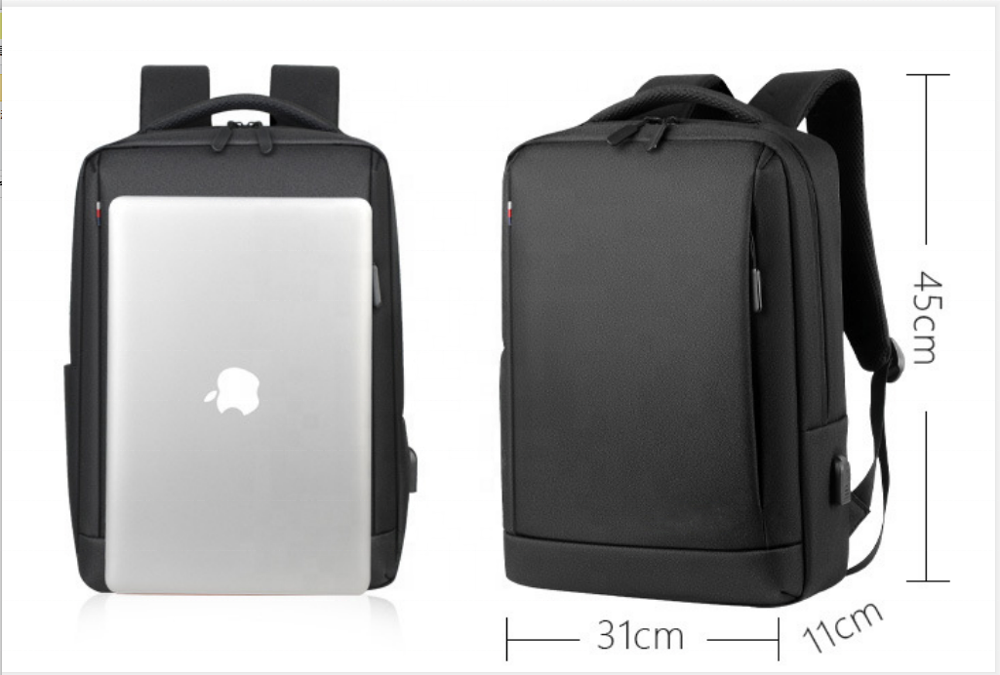 mochilas RTS Fashion waterproof lightweight OXFORD fabric business laptop backpack bags with USB charger port boys men school backpacks