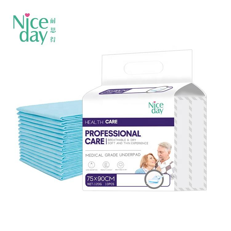 Disposable Superior Under Pad All Sizes Bed Pads Adult & Child & Woman Urine Pad Non Woven Fabric Printed Dry Surface Leak Guard