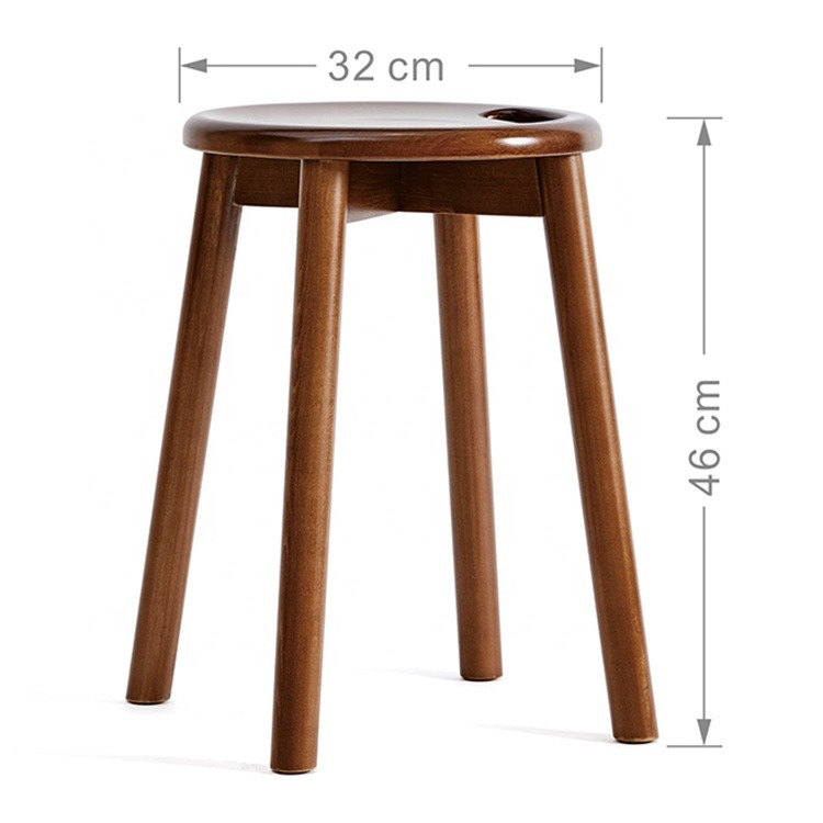 modern design high end solid wood bar stool home decoration durable wooden stools