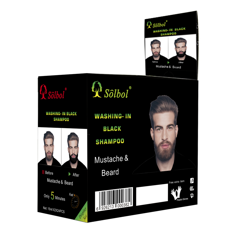 Hot sale black Beard Dye Color private brand Shampoo No Side Effects Dye Mustache Cream