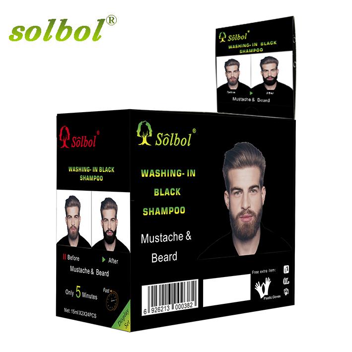 Ammonia Free black Beard Dye Color Shampoo No Side Effects Dye Mustache Cream